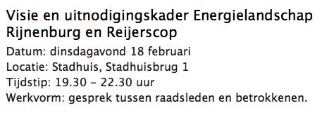 Oproep Raadsinformatiebijeenkomst over Energielandschap Rijnenburg