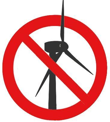 Windturbines Nee!